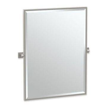 Gatco Elevate 25-Inch x 24.5-Inch Rectangular Framed Mirror in Satin Nickel