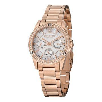 Stuhrling Original Women's Marina Quartz Crystal Stainless Steel Bracelet Watch (Stuhrling Original Women's Watch)