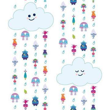 RoomMates Trolls Clouds Peel and Stick Wallpaper