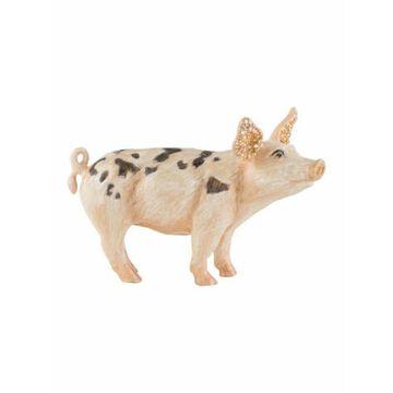 Limited Edition Embellished Pig Figurine pink