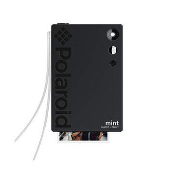 Polaroid Mint 2-In-1 Camera & Printer W/ Zink Zero Ink Technology - Black