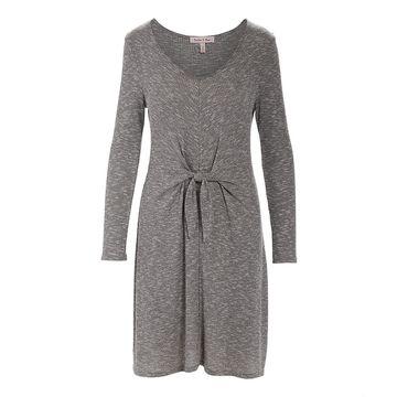 Derek Heart Women's Casual Dresses GREY - Gray Tie-Waist Midi Dress - Juniors