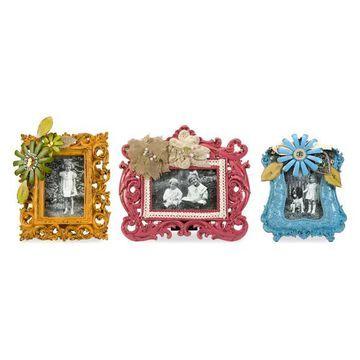 Imax 70975-3 Abbbott Embellished Resin Photo Frames, Set of 3