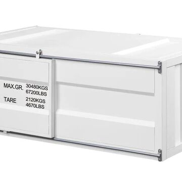 ACME FURNITURE Cargo Metal Top Metal Coffee Table in White   87880