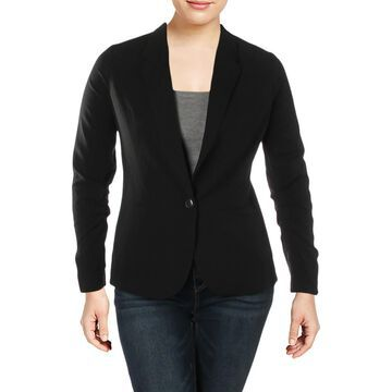 XOXO Womens Juniors Ruched Business One-Button Blazer