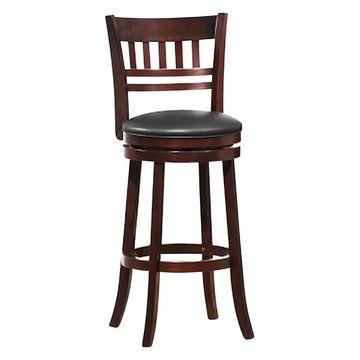 Homelegance Swivel Pub Height Chair/Stool, Dark Cherry