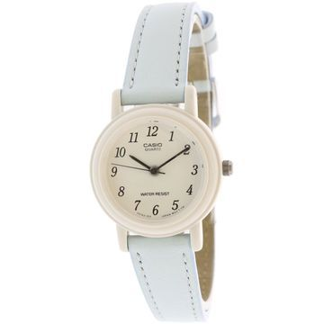 Casio Women's Classic LQ139L-2B White Leather Japanese Quartz Fashion Watch