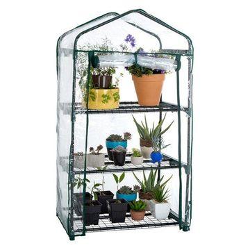 Pure Garden 3 Tier Mini Greenhouse With Cover 27.5x19x50