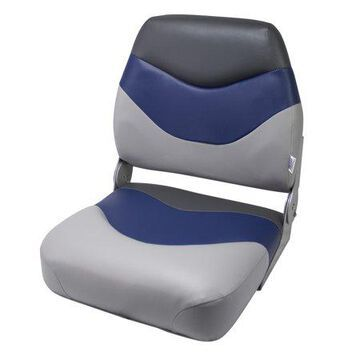 Wise 8WD999PLS-840 Tracker Style Mid-Back Boat Seat, Grey/Navy/Charcoal