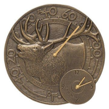 Elk Clock and Thermometer Combo, 14