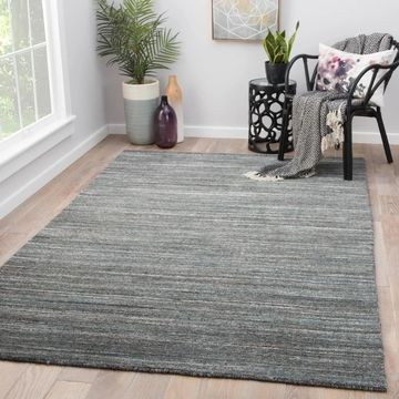Hadrian Dark Grey Wool Handmade Solid Area Rug (9' x 13') - 9' x 13' (9' x 13' - Dark Grey)