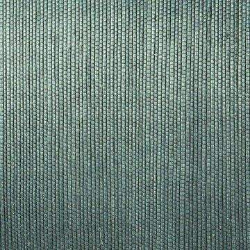 Kenneth James Thanos Teal Grasscloth Wallpaper