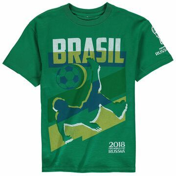 Brazil National Team Youth Jagged Line World Cup T-Shirt - Kelly Green