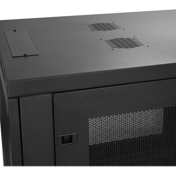 StarTech.com6U Wall-Mount Server Rack Cabinet - Up to 16.9 in. Deep - Rack enclosure cabinet - wall mountable - black - 6U(RK616WALM)