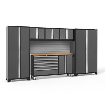 NewAge Products Bold 3.0 144.0 W x 77.25 H Charcoal Gray Steel Garage Storage System