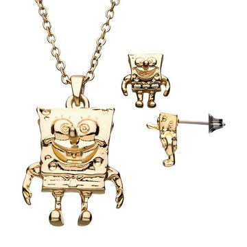 Nickelodeon SpongeBob Pendant & Earring Set