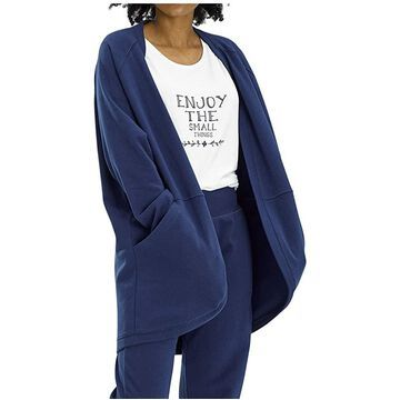 HUE Solid Baby Terry PJ Bed Jacket Women's Robe
