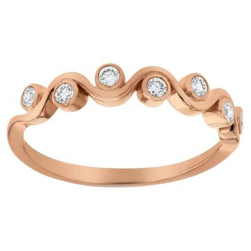 10k Rose Gold 1/5 carat Diamond Anniversary Band Ring by Beverly Hills Charm - White H-I - White H-I (6)