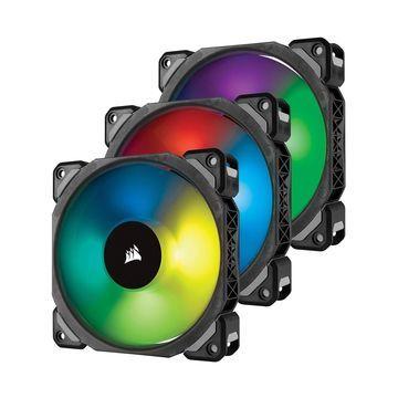 Corsair ML120 PRO 120mm Premium Magnetic Levitation RGB LED PWM Fan with Ligh...
