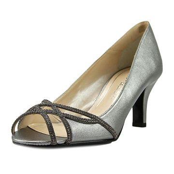 Caparros Womens Eliza Leather Peep Toe Classic Pumps