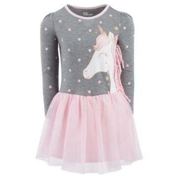 Toddler Girls Graphic Side Fringe Tutu Dress