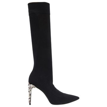 Rene Caovilla Black Cloth Boots