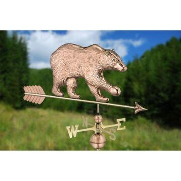Good Directions Bear Weathervane in Polished Copper