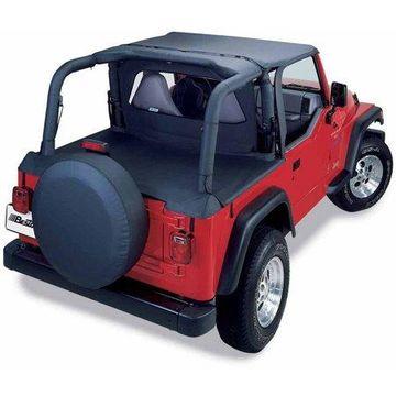 Bestop 80030-15 Jeep Wrangler Windjammer, Black Denim