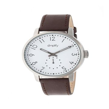 Simplify Unisex Brown Strap Watch-Sim3401