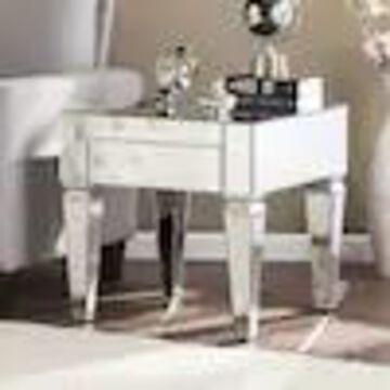 Boston Loft Furnishings Darvo Silver Mirror End Table
