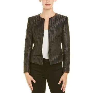 Akris Womens Silk-Lined Wool Jacket