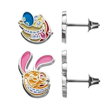 Nickelodeon Ren & Stimpy Stud Earrings