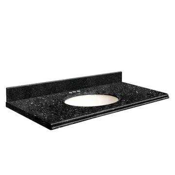 Transolid 25-in Notte Black Quartz Single Sink Bathroom Vanity Top | Q2522-40-U-W-4