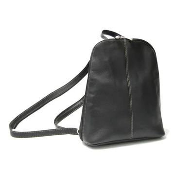 Royce Leather Vaquetta Zip-around Sling Backpack