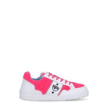Chiara Ferragni Leather And Boucle Fabric Cf-1 Sneaker
