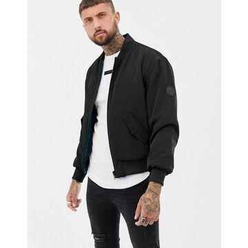 Religion reversible faux fur bomber jacket-Black