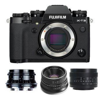 Fujifilm X-T3 Mirrorless Digital Camera (Black) with Lens Bundle