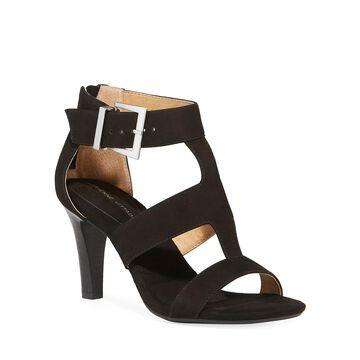 Varsity Suede Cutout Sandals