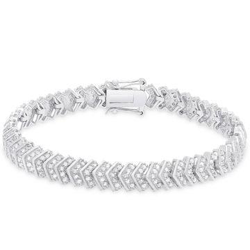 Finesque Sterling Silver 2 ct TDW Diamond Bracelet
