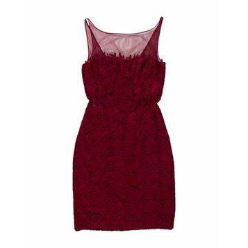 Lace Pattern Mini Dress
