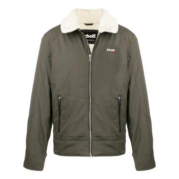 oversized collar zip-up jacket