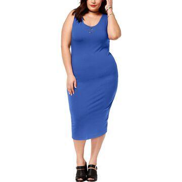 Planet Gold Womens Plus Scoop Neck Sheath Bodycon Dress