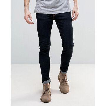 Nudie Jeans Co Skinny Lin skinny fit jeans in deep orange-Navy