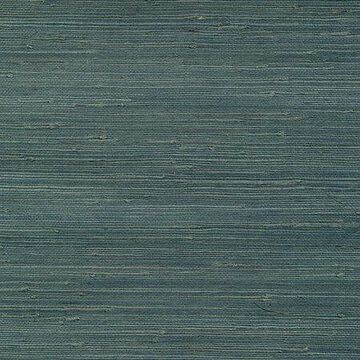 Kenneth James Jurou Blue Grasscloth Wallpaper
