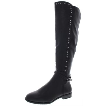 Rialto Womens Ferrell Leather Knee-High Riding Boots