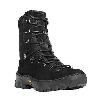 Men's Danner Wildland Tactical Firefighter 8in Fire-Resistant Bo Black Leather