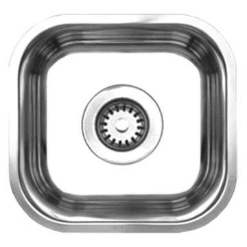 Whitehaus WHNU1212 Stainless Steel 12'' Single Bowl Undermount Kitchen