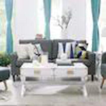 Boston Loft Furnishings Chaucer White Wood Coffee Table