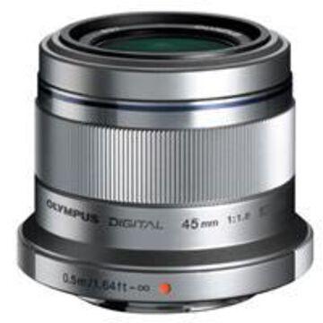Olympus M. Zuiko Digital 45mm f/1.8 Lens for Micro Four Thirds System, Silver