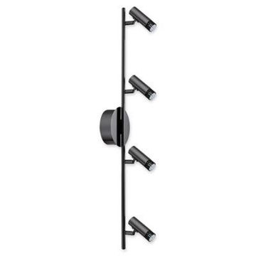 Eglo USA Lianello 4-Light Ceiling-Mount Track Light in Black Chrome